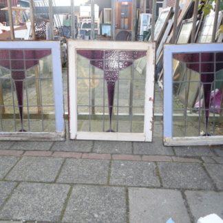 LEEN_Oude bouwmaterialen_3 glas in lood raampjes 300.20.101087