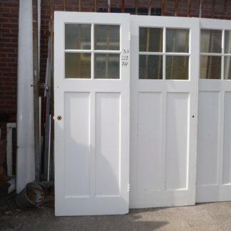 LEEN_Oude bouwmaterialen_3 paneeldeuren met glas 100.90.102211