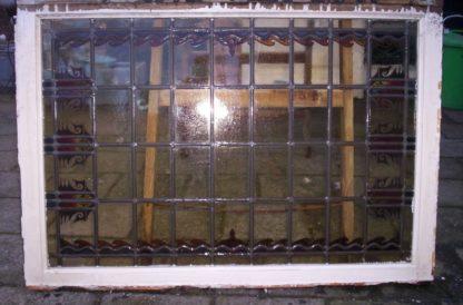 LEEN_Oude bouwmaterialen_5 Bovenlichten glas-in-lood gebrandschilderd 300.10.100458