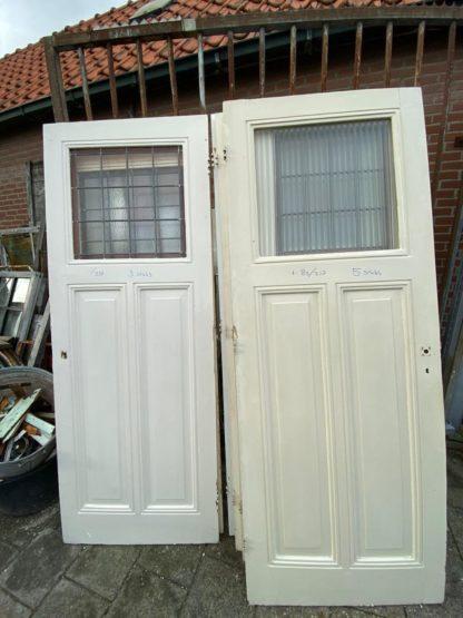 LEEN_Oude bouwmaterialen_Paneeldeur glas in lood A73606