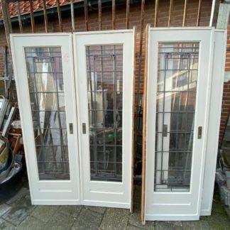 LEEN_Oude bouwmaterialen_Set ensuite deuren met glas B17352