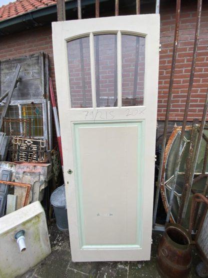 LEEN_Oude bouwmaterialen_Paneeldeur met glas B19111