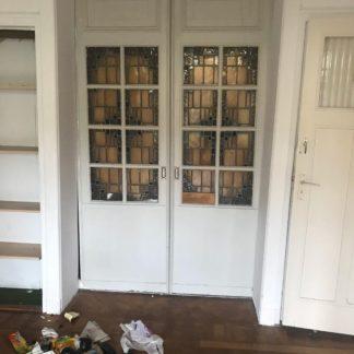 LEEN_Oude bouwmaterialen_Set ensuite deuren met glas B45757