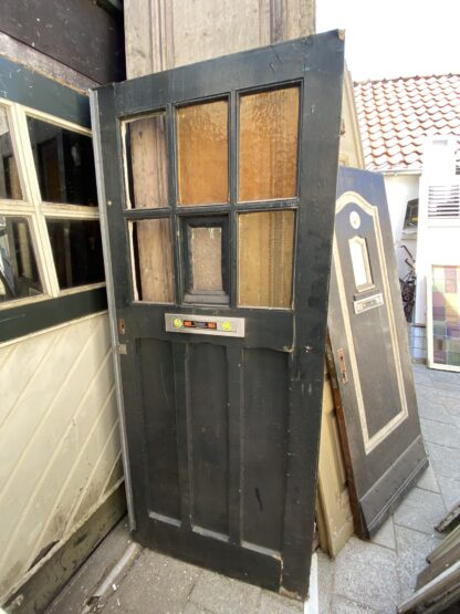 LEEN_Oude bouwmaterialen_Antieke voordeur met glas B56543