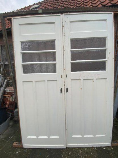 LEEN_Oude bouwmaterialen_Set ensuite deuren met glas B73043
