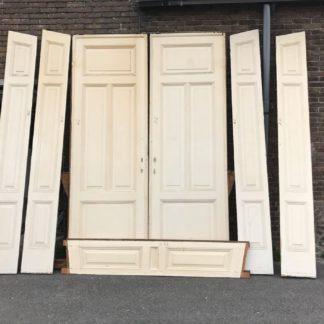 LEEN_Oude bouwmaterialen_Set ensuite deuren met ombouw C55953