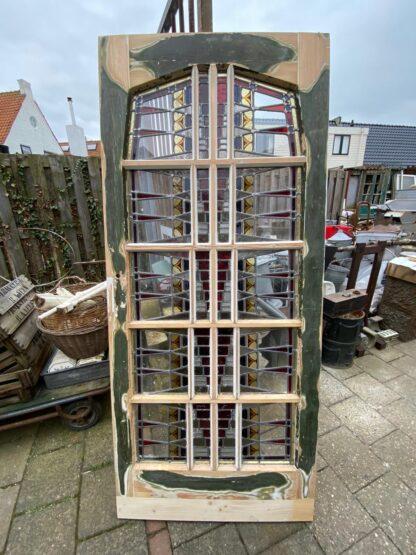 LEEN_Oude bouwmaterialen_Paneeldeur met glas in lood C61694