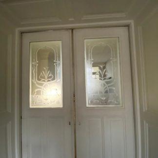 LEEN_Oude bouwmaterialen_Set ensuite deuren met glas C89896