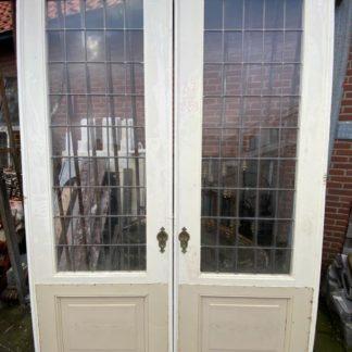 LEEN_Oude bouwmaterialen_Set ensuite deuren met glas D72886