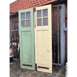 LEEN_Oude bouwmaterialen_Set pakhuis deuren met glas C99174