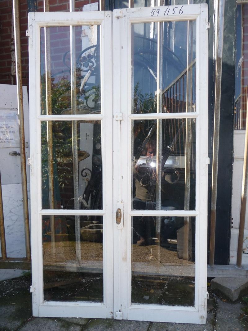 Dubbel openslaand raam   Antieke bouwmaterialen   Diversen   Te koop bij Leen Oude