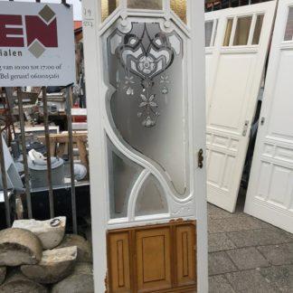 LEEN_Oude bouwmaterialen_Deur met geëtst glas E35878