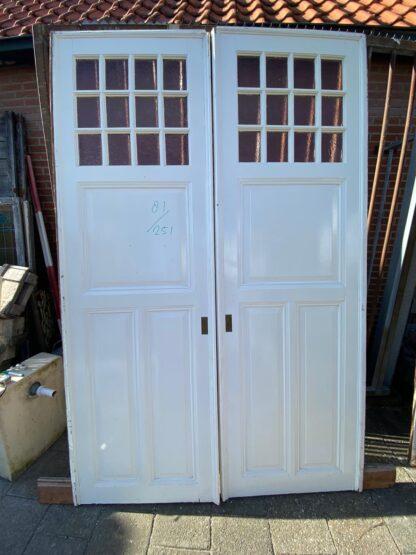 LEEN_Oude bouwmaterialen_Set ensuite deuren met glas E65346