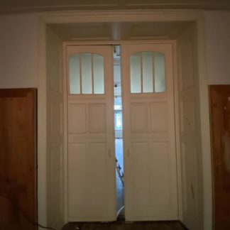 LEEN_Oude bouwmaterialen_Set ensuite deuren met glas F29554