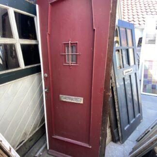 LEEN_Oude bouwmaterialen_Antieke voordeur met ruitje  F62261
