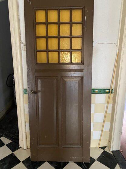 LEEN_Oude bouwmaterialen_Paneeldeur met glas G24455