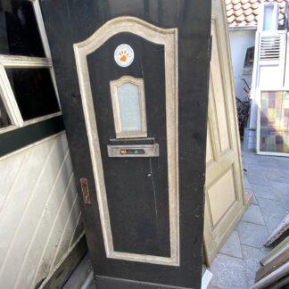 LEEN_Oude bouwmaterialen_Antieke voordeur met ruitje G89459