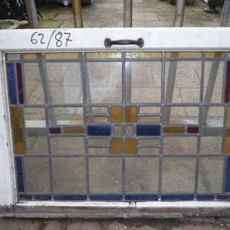 LEEN_Oude bouwmaterialen_Glas in lood raam bovenlicht 300.10.100085