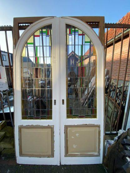 LEEN_Oude bouwmaterialen_Set ensuite deuren met glas H58060