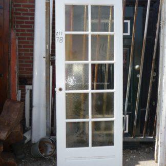 LEEN_Oude bouwmaterialen_Oude deur met glas 10 vakken 100.90.102213