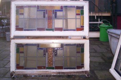 LEEN_Oude bouwmaterialen_Set glas in lood ramen 300.10.100455