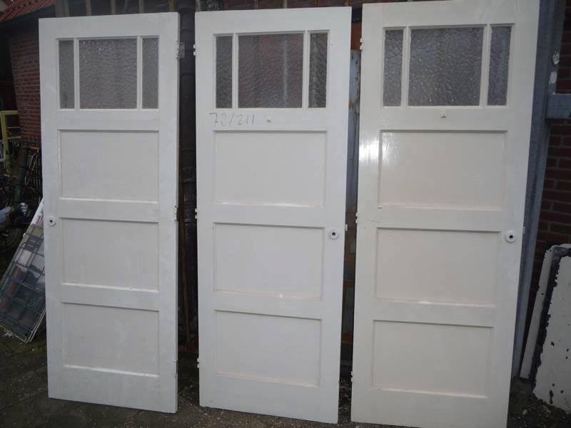 Set oude deuren met glas deuren met glas deuren te koop bij leen oude bouwmaterialen - Kleur binnendeuren ...
