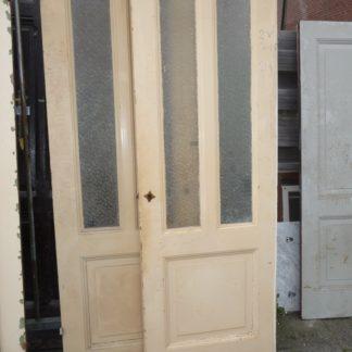 LEEN_Oude bouwmaterialen_Set paneeldueren met glas 100.90.101500