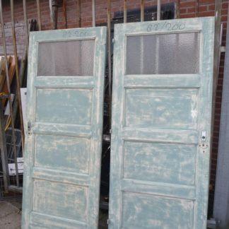 LEEN_Oude bouwmaterialen_Set van 2 paneeldeuren met glas 100.90.100109