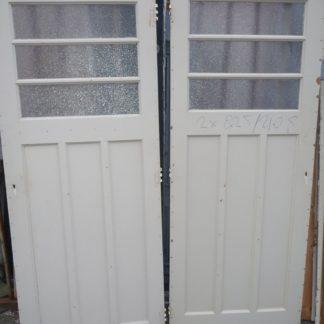 LEEN_Oude bouwmaterialen_Set van 2 paneeldeuren met glas 100.90.102059