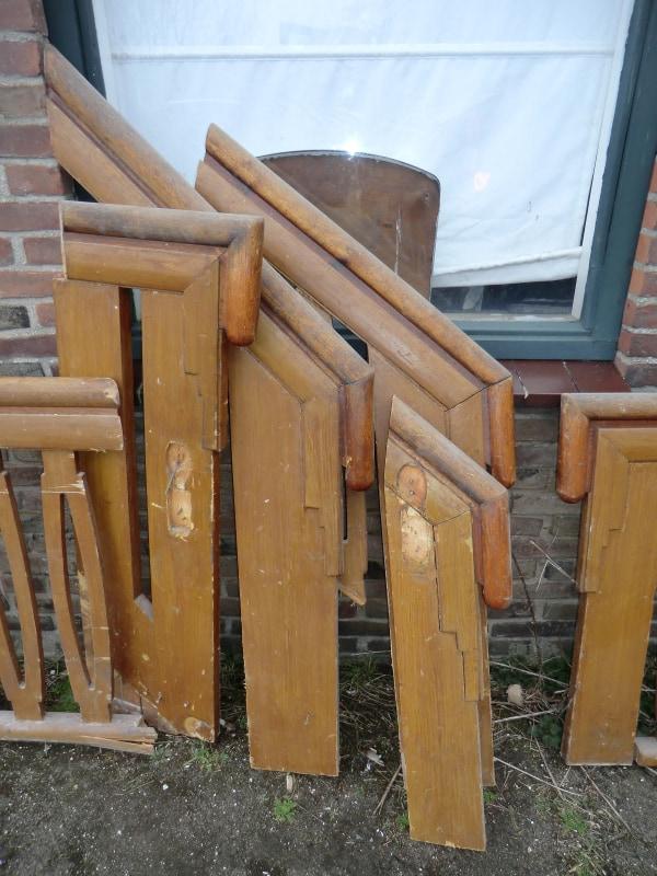 Art deco trap rariteiten diversen te koop bij leen oude bouwmaterialen oude deuren - Deco houten trap ...